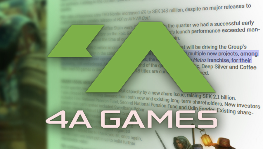 THQ Nordic стане видавцем наступної гри 4A Games